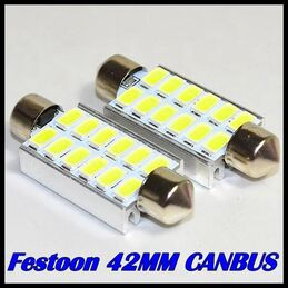 C5W CANBUS FESTOON 12 LED SMD 42 MM DISIPADOR