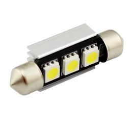 C5W CANBUS FESTOON 3 LED SMD 5050 39 MM DISIPADOR