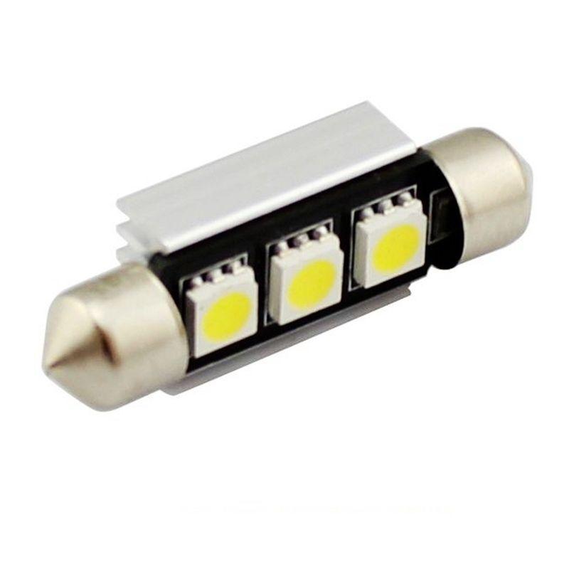 C5W CANBUS FESTOON 3 LED SMD 5050 39 MM DISIPADOR