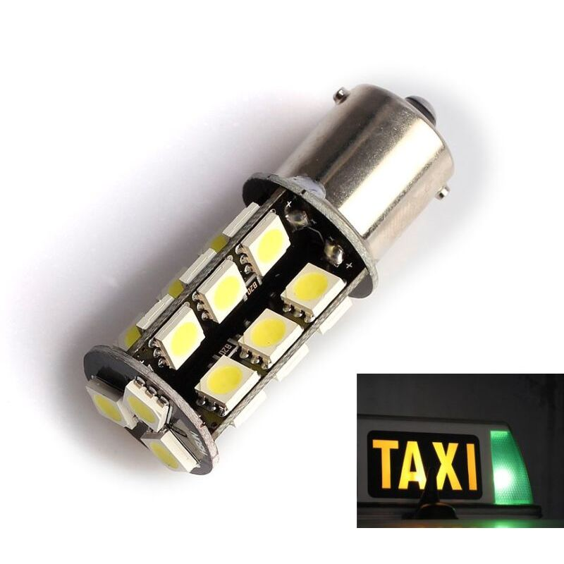 P21W CANBUS BA15S 1156 27 LEDS VERDE